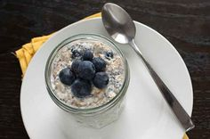 Overnight Oats With Blueberries and Chia Seeds
