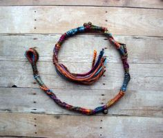 1 Single Twisted Bohemian Charm Hair Wrap by PurpleFinchStore
