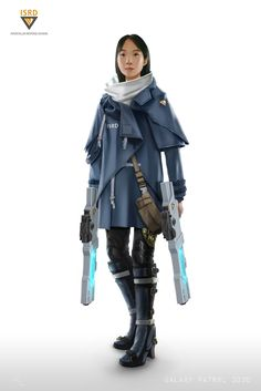 ArtStation - Galaxy Patrol 3030 - Character Concept | Akemi Ueda by Sam Leung