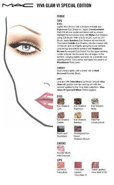 Mac face chart Viva Glam VI Fergie