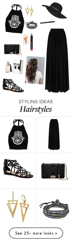 """summer time"" by ariana789 on Polyvore featuring Elie Saab, Rebecca Minkoff, Topshop, AeraVida and Bobbi Brown Cosmetics"