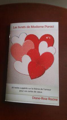 Livret de textes sur l'amour pour la St-Valentin -  PDF à télécharger Une nouveauté de Conception Idécréa Inspirer, Messages, Books, Etsy, Pretty Cards, Greeting Cards, Love Text, Texts, Handmade Gifts