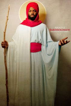 """Bartholomew ~Noire Icons of the Bible by James C. Lewis, International Photographer ~ """"How might Biblical characters really look? Black History, Art History, History Facts, History Education, History Books, Blacks In The Bible, Biblical Costumes, Lucas 6, Black Jesus"""