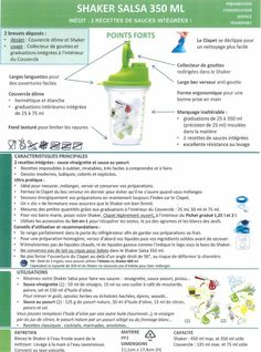 Fiche Tupperware : Shaker salsa 350 ml Shaker Tupperware, Tupperware Recipes, Conservation, Tupperware Pressure Cooker, Salsa, Chartreuse, Macarons, Sauces, French Recipes