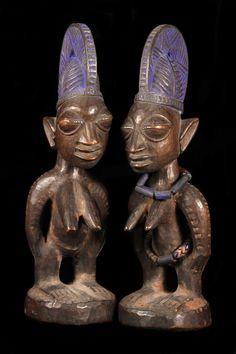 coppia di gemelli IBEJI YORUBA IGBOMINA ILA ORANGUN NIGERIA
