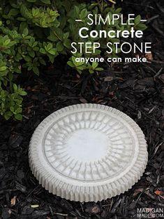 DIY concrete stepping stone