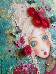 Mixed Media Art For Kids Backgrounds Super Ideas Mixed Media Faces, Mixed Media Artists, Mixed Media Painting, Mixed Media Collage, Mixed Media Canvas, Collage Art, Collage Collage, Collage Illustration, Painting & Drawing