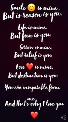 Simple Love Quotes, Sweet Love Quotes, Love Smile Quotes, Good Thoughts Quotes, Birthday Quotes For Girlfriend, Happy Birthday Best Friend Quotes, Good Relationship Quotes, Real Friendship Quotes, Bff Quotes Funny