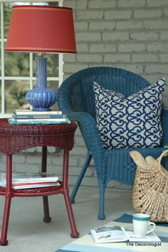 Front Porch Makeover Reveal. Wicker Porch FurnitureWicker ChairsPainting ...