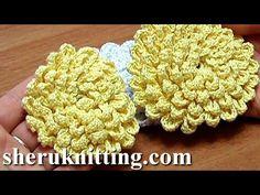 Crochet Fluffy Flower Tutorial 9 Große Blume häkeln