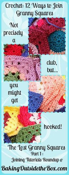 granny squares' , joining tutorial roundup... all the ways to join