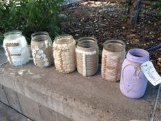 Mason Jar Wedding ideas @ Speckled Feather Mercantile