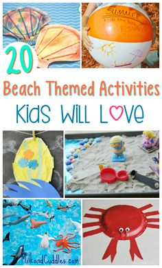 20 beach themed activities that kids will love! Perfect additions to any ocean unit!