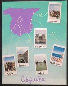 Study abroad memory canvas