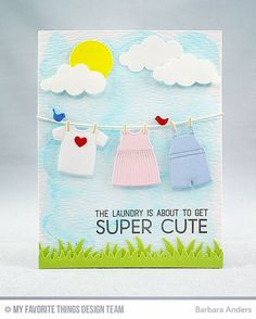 "161 Likes, 6 Comments - Barbara Smith Anders (@banders03123) on Instagram: ""Laina Lamb Designs Welcome, Baby Stamp Set and Bundle of Baby Clothes Die-namics highlight Day Two…"""