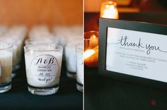 personalize candle guest gifts | Photo by Jessica Burke