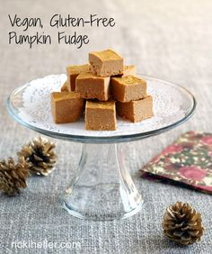 Pumpkin Palooza: Healthy Pumpkin Fudge (vegan, gluten-free, refined sugar-free)