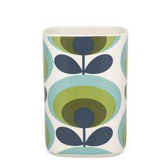 Orla Kiely | UK | house | Cooking & Dining | 70s Flower Utensil Pot (0CERSFL720) | green