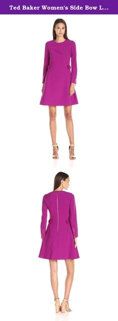 Ted Baker Women's Side Bow Long Sleeve Dress, Purple, 3. The epitome of power dressing, the sophisticated emory dress will make the perfect boardroom ensemble. With subtle bow detailing to the sides and a simple silhouette, it'll update your work wardrobe in style.
