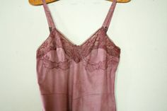vintage 60s Slip Dress Upcycled Hand Dyed Lilac Purple Floral Lace Bust by littleveggievintage