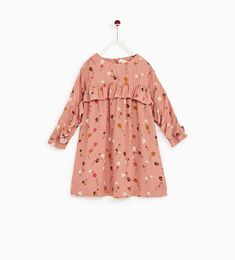 ZARA - KIDS - FLORAL PRINT DRESS WITH RUFFLED SLEEVES