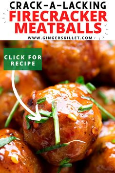 Spicy Chicken Meatballs aka Firecracker meatballs recipe with step-by-step instructions. These spicy and sweet twice-baked chicken meatballs are super easy to make and tastes delicious as an appetizer or in a meal! #meatballs #firecrackerchicken #firecracker #chicken #chickenmeatballs #firecrackermeatballs Baked Chicken Meatballs, Chicken Meatball Recipes, Chicken Meals, Firecracker Meatballs, Firecracker Chicken, Appetizer Recipes, Dinner Recipes, Appetizers, Fun Food