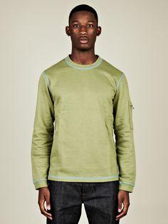Adidas x Opening Ceremony Men's Contrast Crewneck Sweatshirt in green at oki-ni