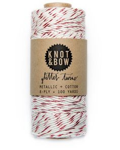 Knot & Bow The Original Glitter Twine Red Natural
