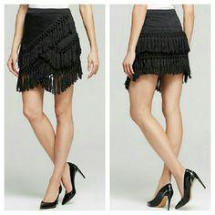 Endless Rose Fringe Asymmetrical Tier Skirt NWOT. Poly/cotton blend. Zip closure. Endless Rose Skirts Mini