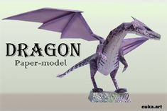 Purple Dragon Papercraft