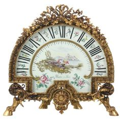 Planchon Paris Bronze 1 Hand Sector Clock