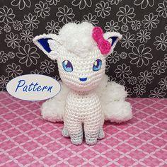 Pokemon Crochet Pattern, Crochet Amigurumi Free Patterns, Crochet Dolls, Cute Crochet, Crochet Crafts, Crochet Projects, Selling Crochet, Pokemon Craft, Tsumtsum
