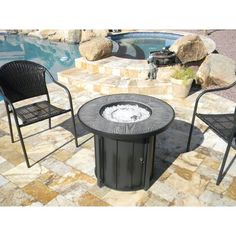 Tabletop Fireplaces, Fire Pit Sets, Faux Wood Tiles, Outdoor Fire, Outdoor Decor, Glass Fire Pit, Fire Table, Outdoor Seating Areas, Patio Heater