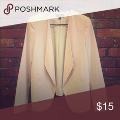 Soft Pink fitted Blazer Tailored, versatile fit. Faux pocket details. Mossimo Black Jackets & Coats Blazers