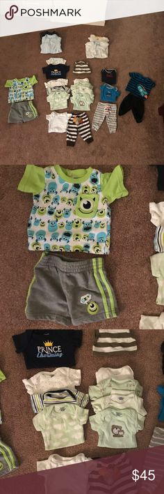 Newborn baby boy bundle Newborn size baby boy bundle. All in really good or excellent condition. Consist of carters, gerber and Disney baby. And a couple other brands. Carter's Matching Sets