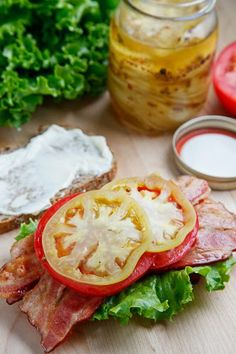 Pickled Green Tomato BLT