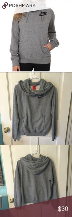 nike cowl neck sweatshirt Gently worn but in good condition with no stains. Incredibly cozy and fashionable Nike Tops Sweatshirts & Hoodies