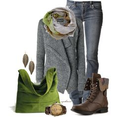 country fashion trends | Casual Fall Dresses Autumn Green | Fashionista Trends