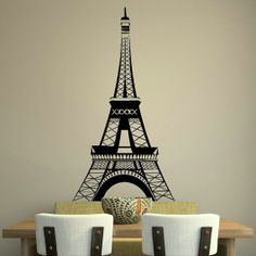 Eiffel tower paris french wall art sticker by WallStickersExtra, £19.99