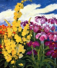 Verbascum and Lilies - Emil Nolde - The Athenaeum