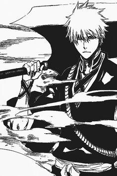 Ichigo Manga, Bleach Ichigo Bankai, Manga Anime, Bleach Manga, Otaku Anime, Manga Art, Bleach Anime Art, Bleach Characters, Anime Characters