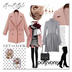 """""""Plus Size Pink Double Breasted Duffle Coat"""" by ilona-828 ❤ liked on Polyvore featuring moda, ASOS, Chicnova Fashion, Lang, StreetStyle, polyvoreeditorial y yoins"""