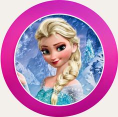 Frozen: Free Printable Kit with Fucsia Border.