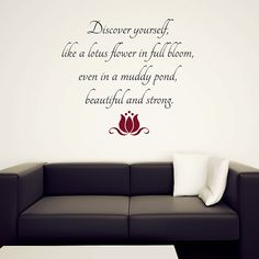 Lotus Flower  Wall Quote Decal  Vinyl Sticker  Plus by urbandecal, $45.00