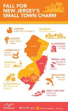 Fall For New Jersey's Small Town Charm - we are partial to Morris County's Chester!