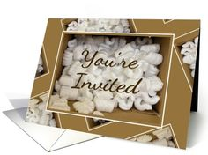 Housewarming Open House Party Invitation-Styrofoam Packing Peanuts Card. Thank you customer in North Carolina!