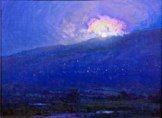 Full Moon Rising Over Haleakala<br />12x16  Pasqual Fine Arts Hawaii