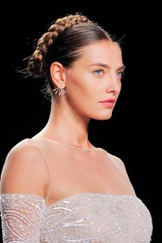 CROWNING GLORY: Milkmaid braids from Naeem Khan are the perfect combination of young and modern.