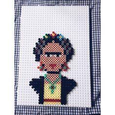 Frida Kahlo hama beads by ceciliederlien
