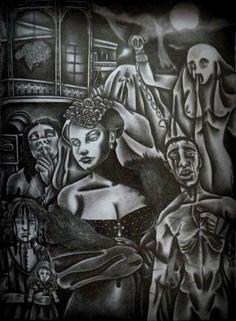 "Saatchi Art Artist Celeste Gómez; Drawing, ""Madame Lalaurie.( the murder of New Orleans.)"" #art"